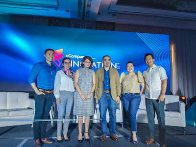 """In photo are Hamilton Angluben, General Manager, Cashalo (extreme right) and Pia Roman Tayag,  Head of Inclusive Financial Advocacy Staff, Bangko Sentral ng Pilipinas (extreme left), who are among the speakers for the  """"Consumer Insight"""" panel discussion at Finovation 2019. Joining them are: (center) Mags Vazquez-Surtida, VP & Group Business Head for Cards & Acquiring, Asia United Bank; Harvey Libarnes, VP & Financial Service Head, Smart Communications, Inc.; and Stephanie Chung, CEO and Managing Director, eCompareMo."""