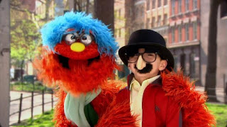 Murray What's the Word on the Street Disguise, Sesame Street Episode 4315 Abby Thinks Oscar is a Prince season 43