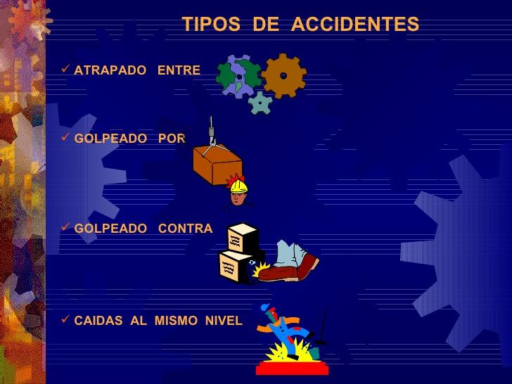 ACCIDENTES DE TRABAJO: TIPOS DE ACCIDENTES