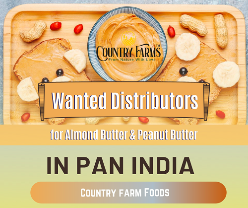 Wanted Distributors, Super Stockist for Almond Butter & Peanut Butter Products in Pan India