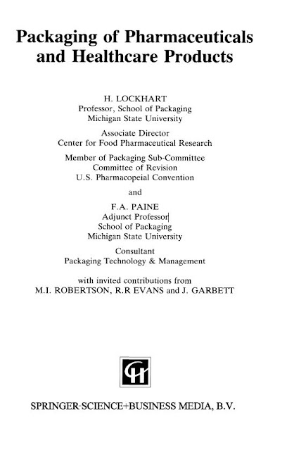 Packaging of pharmaceuticals and healthcare products-Springer US (1996)