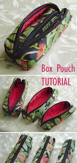 Zippered Box Pouch Tutorial