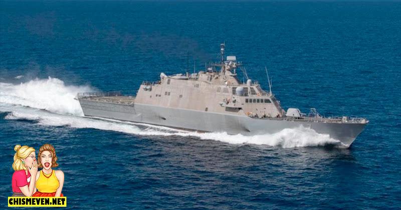 Buque de la Armada de Estados Unidos navega por las costas de Venezuela