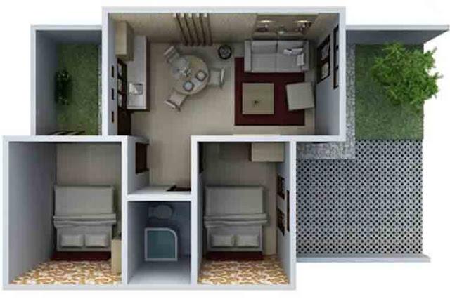 Rumah Minimalis Type 36 tanpa Teras