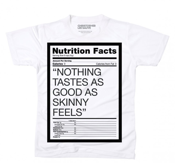 nothing tastes as good as skinny feels