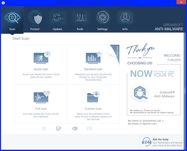 Screenshot GridinSoft Anti-Malware 4.1.1 Full Version
