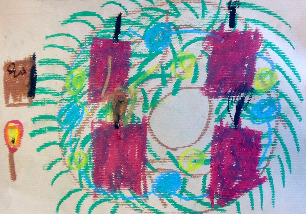 Lockwerke adventsmuster f r den kleinsten adventskalender der welt - Adventskranz fur kindergarten ...