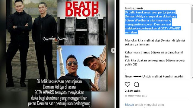 Aksi Demian di SCTV Award Gagal, Netizen: