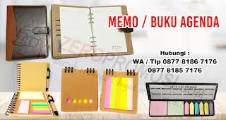 Memo atau Buku Agenda merupakan salah satu rekomendasi souvenir menarik untuk media promosi