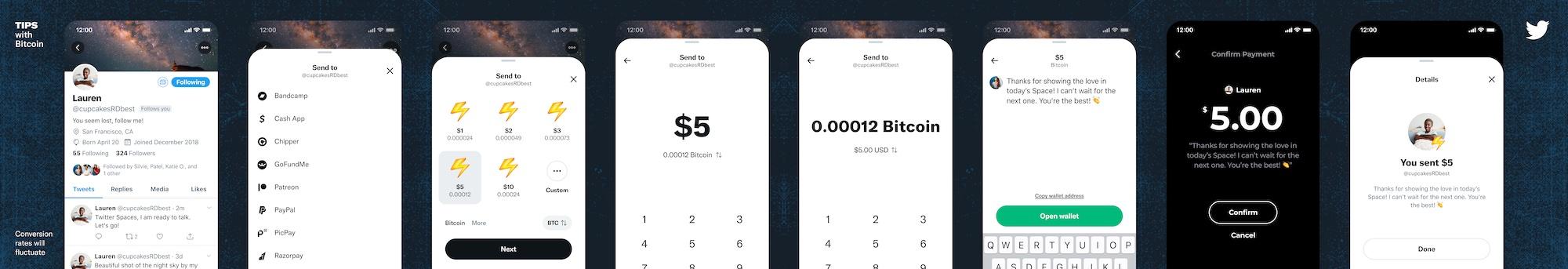 Twitter Tips - Sending a Bitcoin tip through Strike