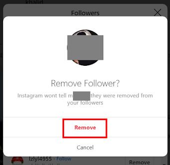 كيفية إزالة أي متابع نهائيا في انستجرام