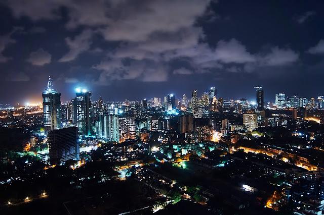 Night skyline of Mumbai city