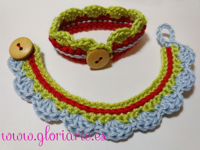 5e8eb4de6eeb Pulseras de crochet DIY