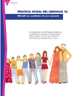Apoyo Primaria Formación Español 3ro. Grado Bloque III Lección 12 Practica social del lenguaje 12, Difundir los resultados de una encuesta