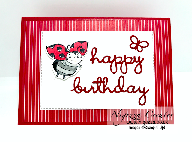 Stampin Up Little Ladybug pop up card