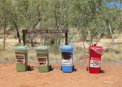 recycling bins, Australia