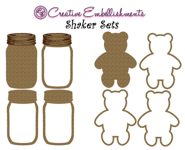 Shakers Mason Jar and Teddy bear