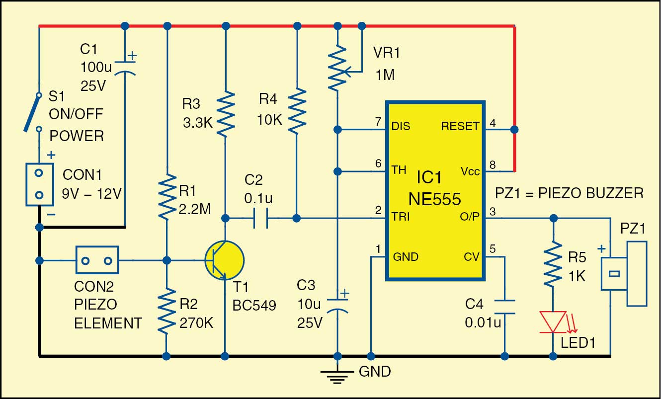 NonstopFree Electronic Circuits Project Diagram and