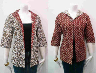 Baju Batik Kombinasi Bolero Pendek