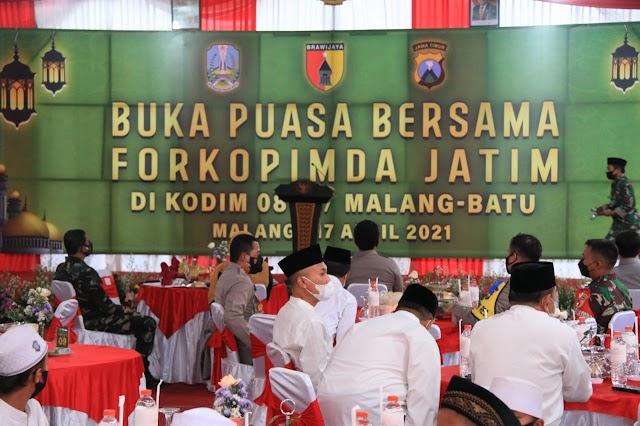 Usai Meninjau Lokasi Bencana Gempa Bumi di Tirtoyudo, Forkopimda Jatim Gelar Doa Bersama di Makodim 0818 Batu Malang