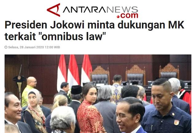 Jauh-jauh Hari, Jokowi Sudah Minta Dukungan MK Buat Demi Lancarnya Omnibus Law