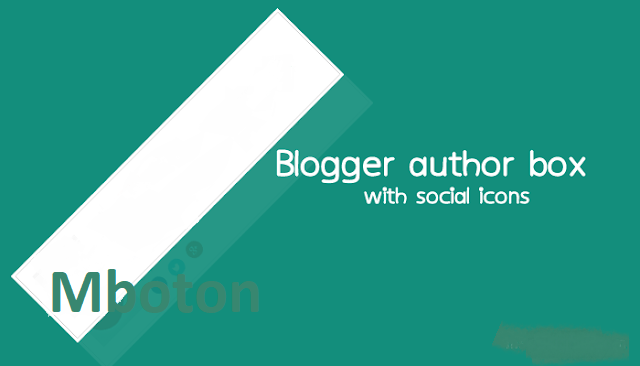 Blogger Author Bio box with Social