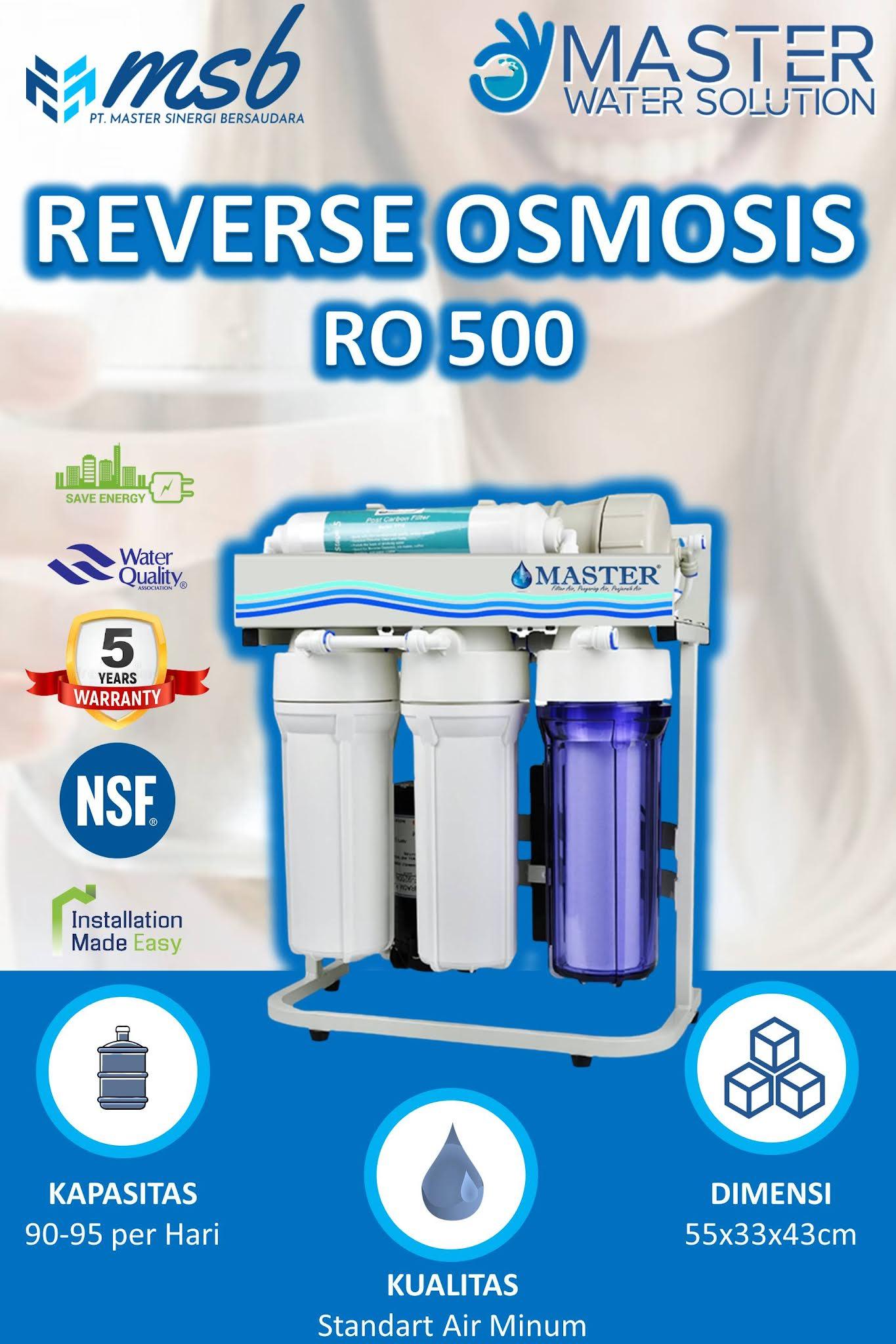REVERSE OSMOSIS 500³ (RO 500)