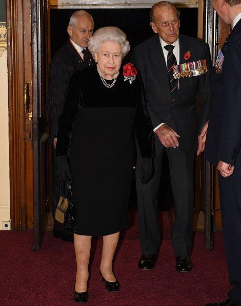 Queen Elizabeth, Camilla, Duchess Catherine, Sophie, Princess Anne, Princess Alexandra, Kate Middleton