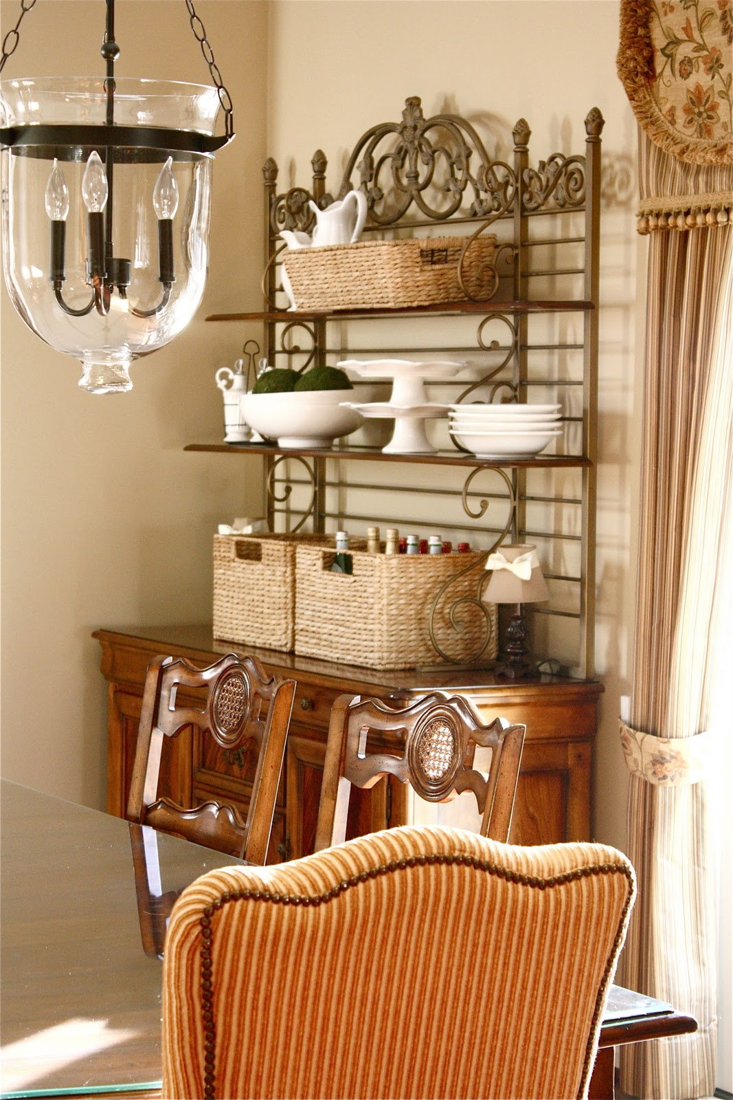 The Yellow Cape Cod: Styling A Dining Room Hutch For