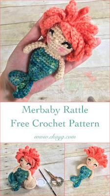 merbaby free rattle crochet pattern