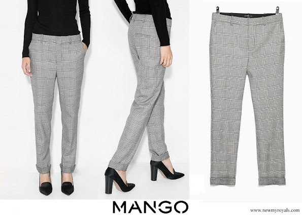 Queen Letizia wore Mango Prince of wales pants