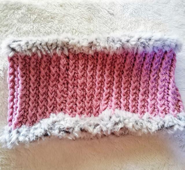 ダイソー「メランジ」のかぎ針編みネックウォーマーの編み方