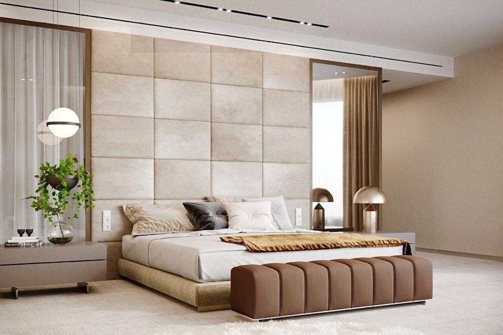 marble-tiles-beige-feature-wall-in-bedroom