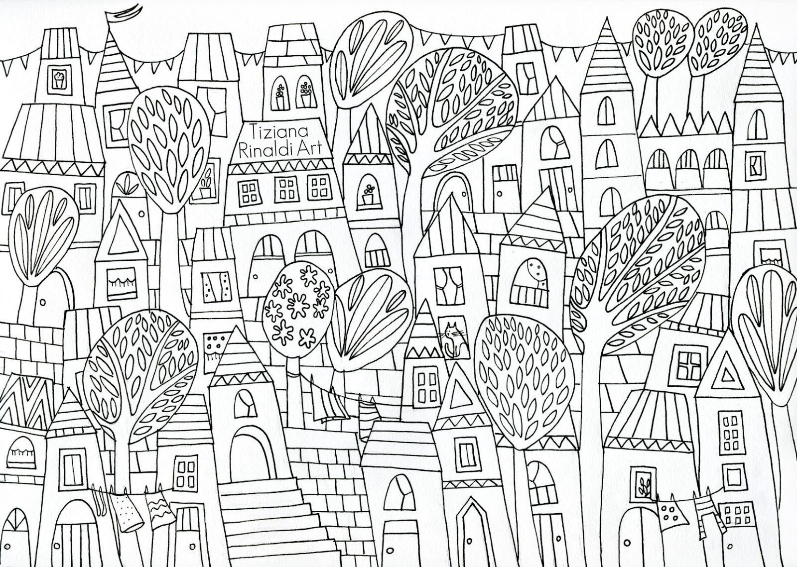 Tiziana rinaldi art 772 the happy village l 39 immagine for Disegni per la casa degli artigiani