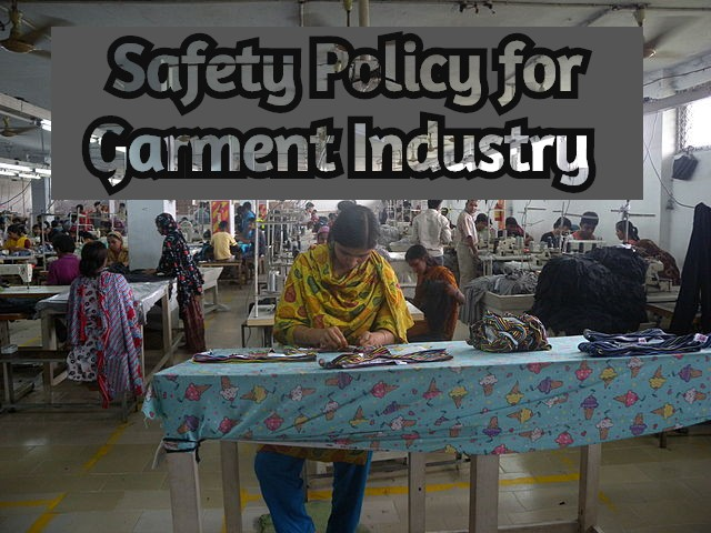 Safety Policy for Garment