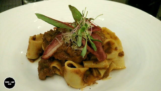 Home-made pappardelle, duck ragout and smoked duck @ The Italian Road Trip @ ALBA | JW Marriott Hotel | Bangalore