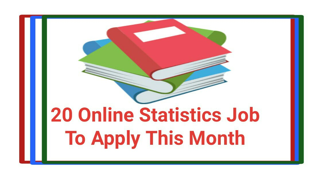 20 Online Statistics Job To Apply This Month