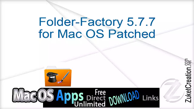 Folder-Factory 5.7.7 for Mac OS Patched
