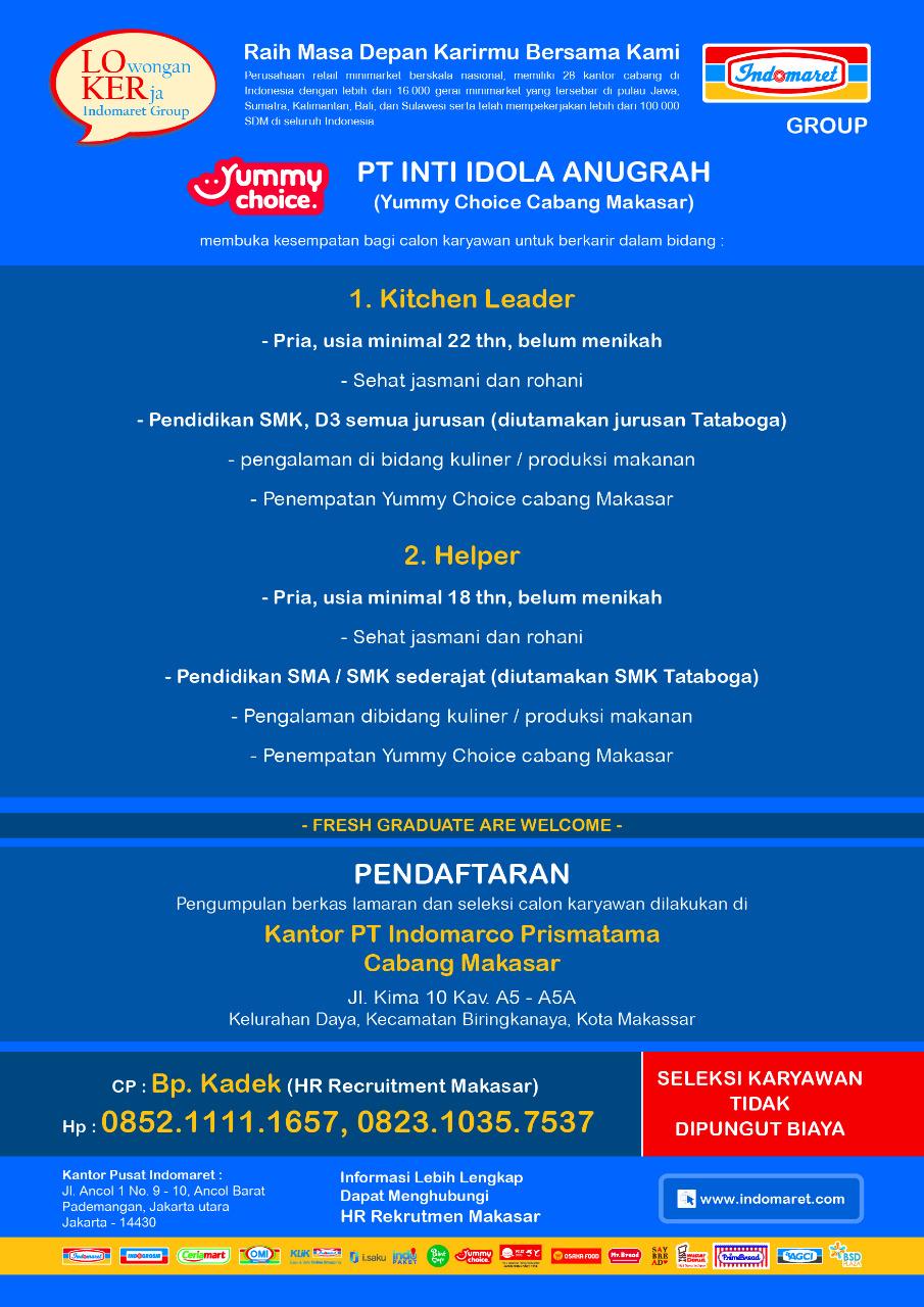 Lowongan Kerja Lowongan Kerja Sma D3 S1 Indomaret Dan Alfamidi Makassar 2020