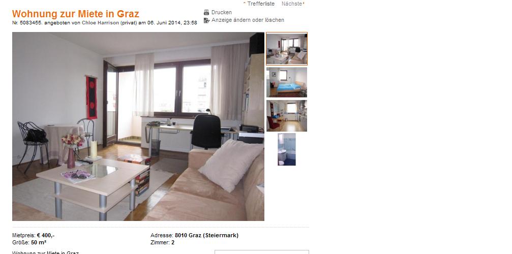 Alias chloe harrison wohnung for Wohnung zur miete