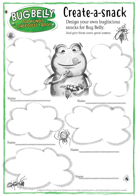 Download A4 sheet to Create your own Bug Belly snacks