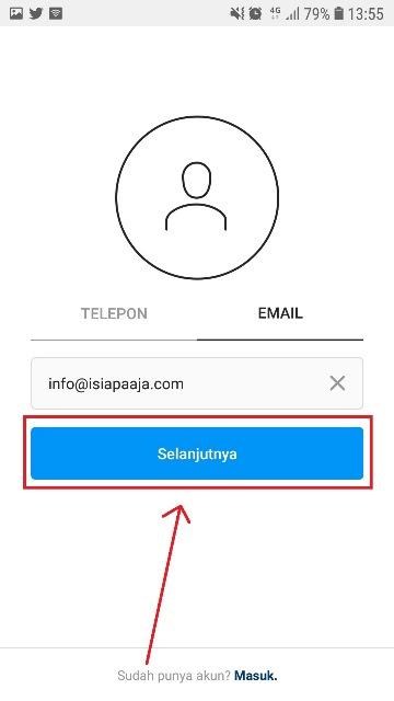 cara membuat akun instagram tanpa email