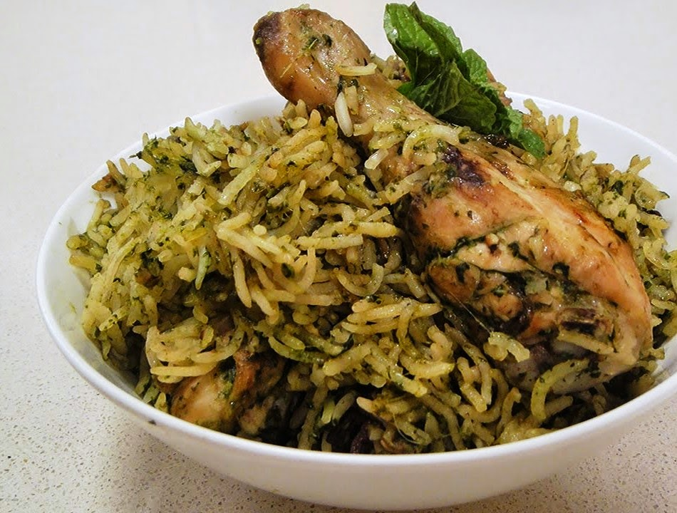 Chicken Pulao In Hara Masala (Non-Veg) From Imperial Inn