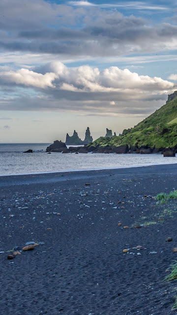 Landscape, Iceland, Beach, Sea, Rocks