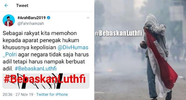 Fahri Hamzah Serukan #BebaskanLuthfi: Negara Harus Adil !