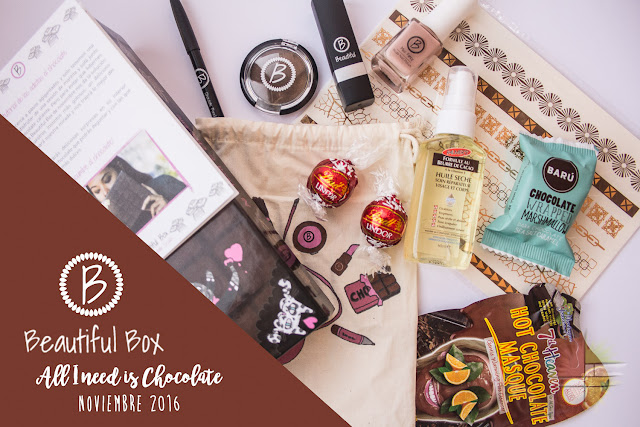 My Chocolate Crush, la Beautiful Box de noviembre de 2016 de enfemenino