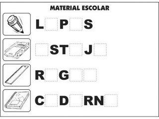Jogos e atividades para alfabetização - Complete as palavras - Materiais Escolares