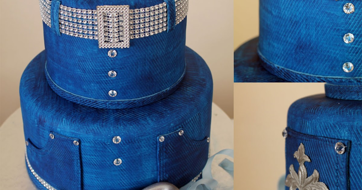 Delana S Cakes Denim And Diamonds Cake