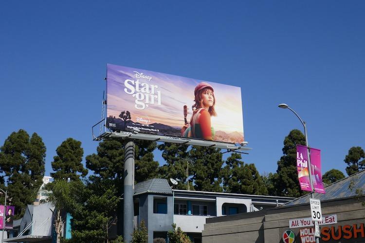 Disney+ Stargirl movie billboard