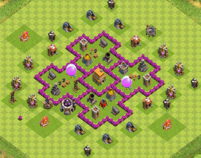Base Town Hall 6 Clash of Clans Hybrid